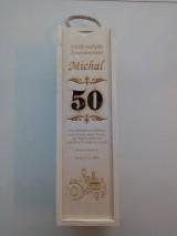 Krabičky - Gravirovana krabica na víno - 10633997_