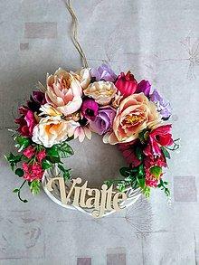 Dekorácie - Kvetinkový venček na dvere celoročný - 10634067_