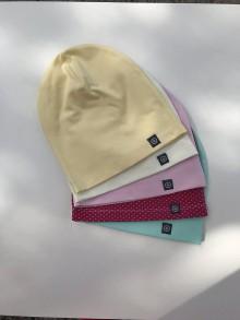 Detské čiapky - Jednovrstvová čiapka JIM (Biela) - 10633254_