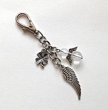 """Kľúčenky - Kľúčenka """"krídlo"""" s minerálovým anjelikom - 10635796_"""