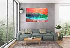 Sky fall - veľký abstraktný obraz