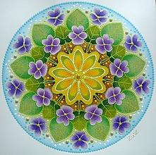 Obrazy - Mandala - FIALKY - 10635043_