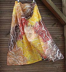 Šatky - silk scarf_hodvábna šatka_abstraction - 10634624_