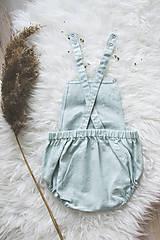 Detské oblečenie - MINT- Ľanové romperky SIMPLE - 10634903_