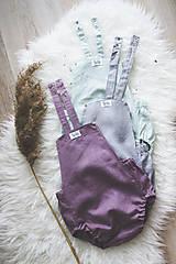Detské oblečenie - MINT- Ľanové romperky SIMPLE - 10634904_