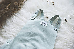 Detské oblečenie - MINT- Ľanové romperky SIMPLE - 10634907_