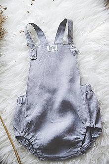 Detské oblečenie - SHADOW- Ľanové romperky SIMPLE - 10634920_