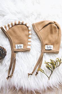 Detské čiapky - Čapička pre bábätko NATURE (bio-bavlna) - 10635855_