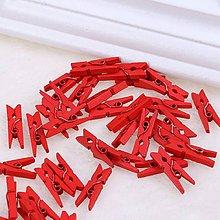 Polotovary - drevený štipec (Červená) - 10634004_