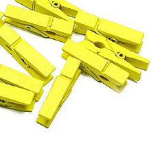 Polotovary - drevený štipec (Žltá) - 10634064_