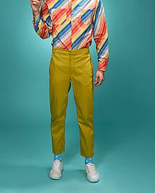 Oblečenie - Žlté nohavice - 10632950_