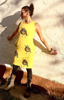 Šaty - Šaty  vreckami žlté Artur - 10634099_