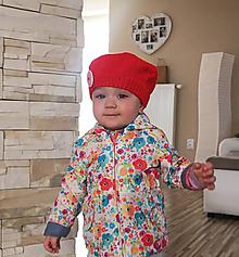 Detské čiapky - Detská baretka - 10633140_