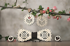 Sady šperkov - Motýlik Medový kvet - 10633063_