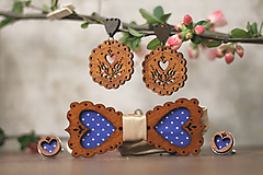 Sady šperkov - Motýlik modrý medovník - 10633095_