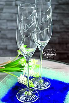 Nádoby - Svadobné čaše - 10635749_