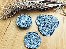 Úžitkový textil - Bella odlíčovacie tampóny modré - #zerowaste 7ks/sada - 10632593_