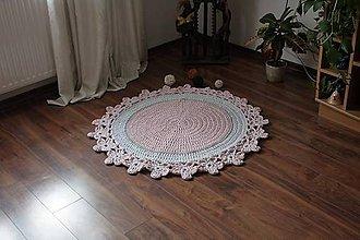 Úžitkový textil - háčkovaný koberček - 10635761_