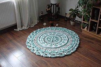 Úžitkový textil - háčkovaný koberček - 10635848_