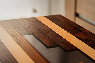 Nábytok - Stôl s epoxidovou živicou - 10634259_