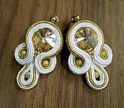 Náušnice - Náušnice Zlatý Šarm - 10635286_
