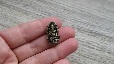 Korálky - Korálka Ganesha, 1 ks (bronz) - 10634055_