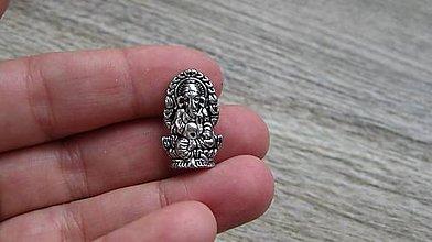 Korálky - Korálka Ganesha, 1 ks (starostriebro) - 10634174_