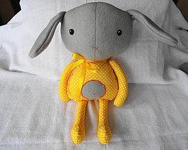 Hračky - pyžamová párty-zajko Mili - 10635114_
