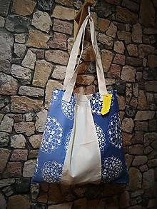 Nákupné tašky - Eco taška v modrom - 10635263_