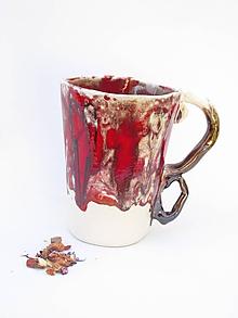 Nádoby - šálka XXl   červená - 10634079_