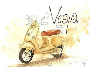 Magnetky - Vespa, magnetka - 10634471_