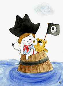Magnetky - Pirát - magnetka - 10634520_