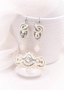 Sady šperkov - Svadobný šujtášový set - 10632665_