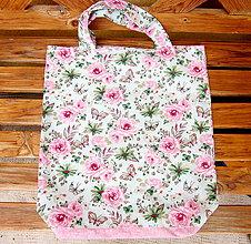 Nákupné tašky - Kvietky  - nákupná taška - 10633863_