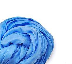 """Šály - """"azur blue"""" hodvábny šál (pléd, štóla) SKLADOM:-)... - 10634989_"""