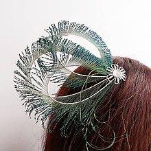 Ozdoby do vlasov - Fascinátor z peria - 10634943_