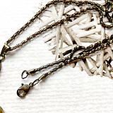 Náhrdelníky - Bronze Butterfly Violet Agate Necklace / Náhrdelník s motýľom a fialovým achátom /2084 - 10636523_