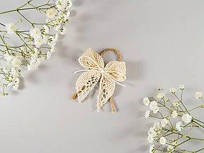 Pierka - Bavlnené svadobné pierka so špagátikom - 10636358_
