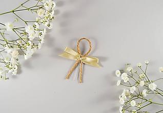 Pierka - Svadobné pierka so špagátikom a mašličkou - 10636383_