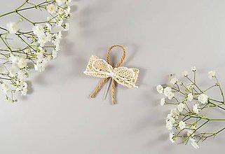 Pierka - Bavlnené svadobné pierka s motúzikom - 10636391_