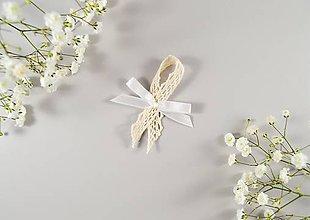 Pierka - Svadobné pierka s mašličkou - 10636434_