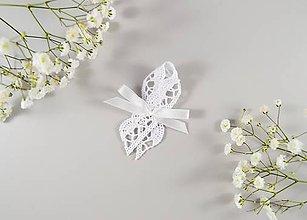 Pierka - Biele bavlnené svadobné pierka - 10638527_