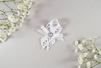 Pierka - Bavlnené svadobné pierka s aplikáciou - 10638549_