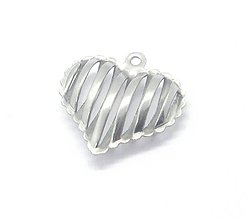 Komponenty - Srdce /M11105/ - nerezová oceľ 304 - 10636308_