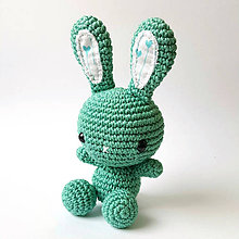 Hračky - Zajko Tulko (green heart) - 10638224_