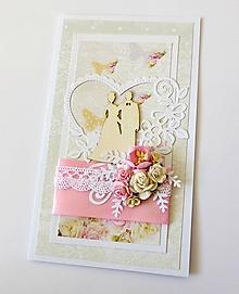 Papiernictvo - darčekový obal / pohľadnica svadobná - 10636229_