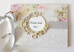 Papiernictvo - svadobná kniha hostí - 10636608_