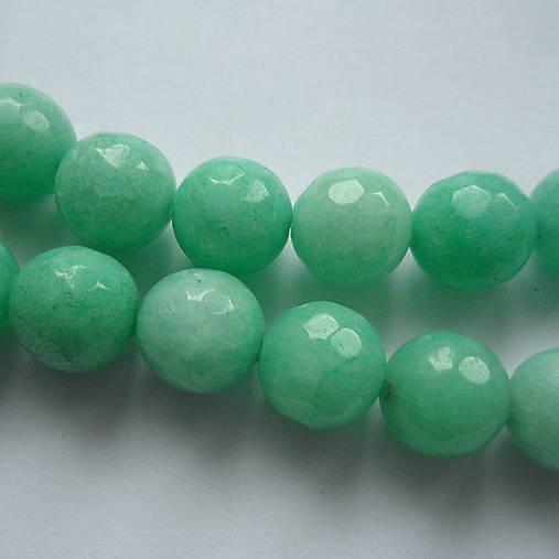 Jadeit fazet 10mm-1ks (azure)