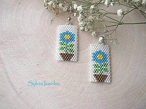 Náušnice - Jarné kvietočky v kvetináči - 10636632_