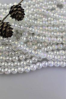 Minerály - krištál aura korálky 10mm - praskaný aura krištál - 10638306_
